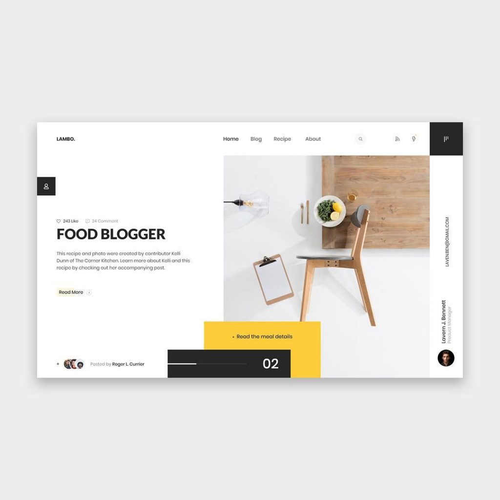 Food Blogger Template 1